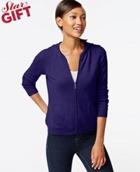 Charter Club Cashmere Zip Front Hoodie In 11 Colors Only At Macy's Wine Frost