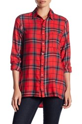 Abound Oversized Flannel Shirt Red P Lisa Pld