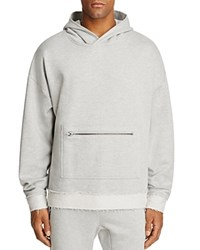 The Narrows Raw Edged Hooded Sweatshirt 100 Exclusive Heather Gray