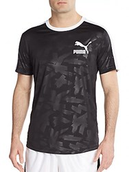 Puma Graphic Baseball Jersey Tee Black