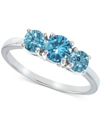 Giani Bernini Cubic Zirconia Stackable Three Stone Ring In Sterling Silver