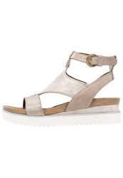 Mjus Spak Platform Sandals Fog Light Grey