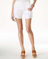 Tommy Hilfiger Linen Cargo Shorts Classic White