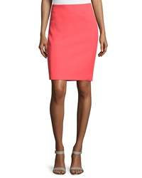 Halston Heritage Seam Detailed Pencil Skirt Coral