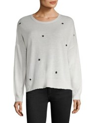Sundry Cashmere Blend Long Sleeve Sweater Cream