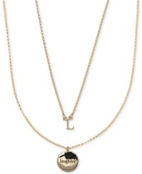 Ivanka Trump Gold Tone 2 Pc. Set Initial And Disc Pendant Necklaces Crystal L