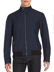 Salvatore Ferragamo Lightweight Bomber Jacket Navy