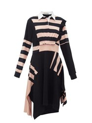 Preen Line Omisha Striped Cotton Rugby Dress Black Pink