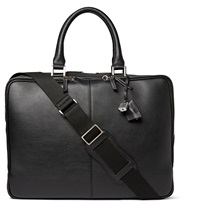 Want Les Essentiels Trudeau Leather Briefcase Black