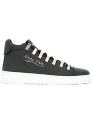 Philipp Plein Contrast Sole Sneakers Black