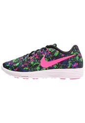 Nike Performance Lunartempo 2 Lightweight Running Shoes Black Pink Blast Electric Green
