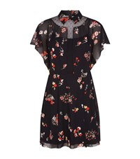 Red Valentino Floral Dress Female Black