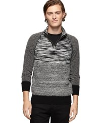 Calvin Klein Jeans Space Dyed Terry Zip Sweater Black