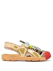 Gucci Leather And Mesh Sandals Beige