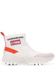 Calvin Klein Jeans Knit High Top Sneakers White