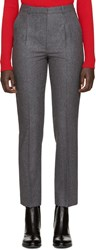 Carven Grey Wool Flannel Trousers