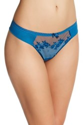 Chantelle Intuition Tanga Cheeky Panty Blue