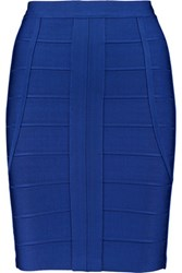 Herve Leger Bandage Pencil Skirt Royal Blue
