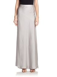 Halston Layered Hem Maxi Skirt Mist