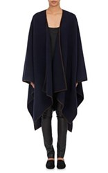 The Row Women's Dusana Wool Cashmere Cape Navy