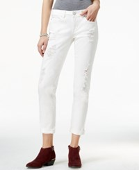 American Rag Ripped White Wash Boyfriend Jeans Only At Macy's
