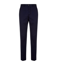 Paul And Shark Cotton And Silk Mix Trousers