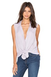 Velvet By Graham And Spencer Dezeray Windowpane Challis With Slub Button Down Tank Lavender