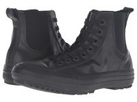 Converse Chuck Taylor All Star Chelsee Translucent Rubber Boot Black Black Black Women's Lace Up Boots