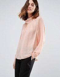 Warehouse Batwing Top Pale Pink