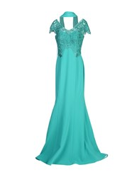 Musani Couture Long Dresses Emerald Green