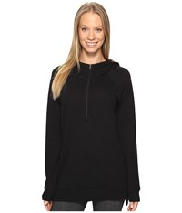 Lucy Om 1 2 Zip Pullover Black Women's Sweatshirt