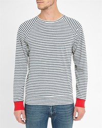 Commune De Paris Amiral Striped Sweater With Red Contrast
