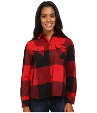Woolrich Oxbow Bend Shirt Jac Old Red Women's Long Sleeve Button Up Pink