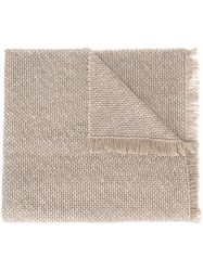 Eleventy Woven Scarf Nude Neutrals