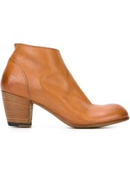 Pantanetti Chunky Heel Ankle Boots Brown