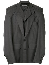 Y Project Double Tailored Jacket Grey