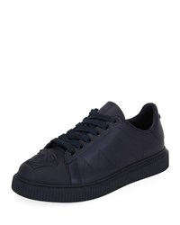 Versace Medusa Chunky Sneaker In Leather Navy