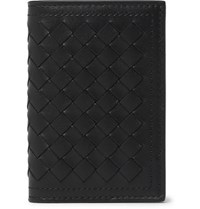 Bottega Veneta Intrecciato Leather Billfold Wallet Black