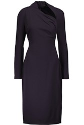 Cushnie Et Ochs Stella Cutout Stretch Cady Midi Dress Dark Purple