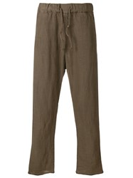 Poeme Bohemien Relaxed Trousers Brown