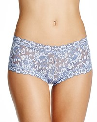 Hanky Panky Cross Dyed Lace Boy Short 591204 Chambray Ivory