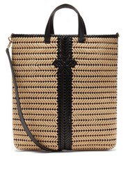 Anya Hindmarch Neeson Woven Rope And Leather Tote Bag Beige Multi