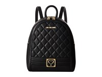 Love Moschino Quilted Mini Backpack Black Backpack Bags