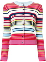 Paul Smith Ps By Multi Stripe Cardigan Multicolour