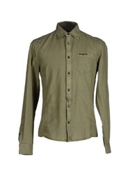 Guess Shirts Shirts Men Military Green