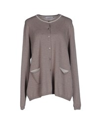 Le Tricot Perugia Knitwear Cardigans Women Light Grey