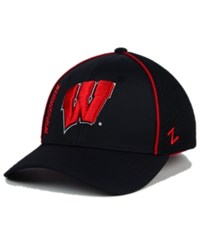 Zephyr Wisconsin Badgers Punisher Stretch Hat Black Red