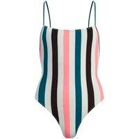 Solid And Striped Women's The Chelsea Swimsuit Black Jade Coral Stripe Multi