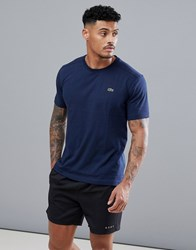 Lacoste Sport Logo T Shirt In Navy