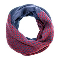 Felt Forma Audrey Squares Infinity Scarf Navy Blue